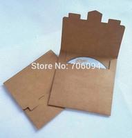13x13cm High quality CD sleeve 250gsm thick Brown Kraft CD/DVD paper bag cd packaging bag  100pcs/lot