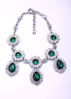 Bride Jewelry Statement Necklace Dot Full Faceted Crystal Silver Necklaces Pendants