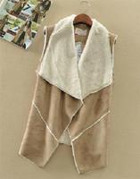 Single Manteau 2014 Autumn Suede Fabric Cotton Vest Jacket Coat Fashion Women Wear Casual Cardigans Outwear Female Warm Vests