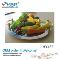 "HY432 (22"" ) Stainless Steel Fruit Basket Wedding Fruit Basket Decoration"