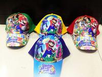 100pcs/Lot Free Shipping! Super Mario Bross Character Visors Cartoon Kids Sun Hats for Boys A024 On Sale Wholesale