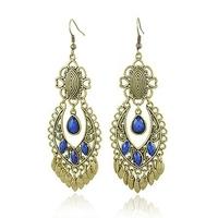Wholesale earrings Free shipping Alloy Long Tassel Vintage earrings for Women AE037