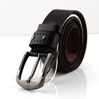 Silver Buckle Brown Fashion High Quality Man Leather Belt Waist Strap #R1