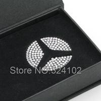 10set Rear Boot Crystal Diamond Round Badges Emblem decorate