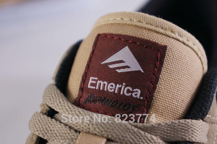 Emerica рейнольдс низкая vulc скейт обувь тан белый цвет