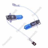 2x H3 Xenon Halogen Auto Headlight Lamp Bulb Kit PK22S Fog Lights Super White 6000K 12V 55W