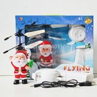 Hot Remote Sensing Flying Fairy Santa Claus Doll Toy brinquedos juguetes Christmas Gift Free Shipping