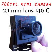 700tvl cmos 2.1mm lens 140 angle view mini cctv camera Small cctv camera