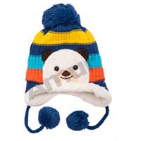 Amur Winter Children Kids Warm Thick Lovely Bear knit Hat striped Cotton 5 color 6M-3Y