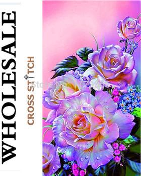 Рукоделие, сделай сам DMC вышивки крестом, комплект для комплект для вышивания, пурпурная роза шаблоны вышивания крестиком-колющими, стены дома Decro