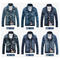 THOOO  man's spring denim jacket coat  sportswear outdoors casual jackets  clothing denim jacket jeans jacket men XXL  XXXL