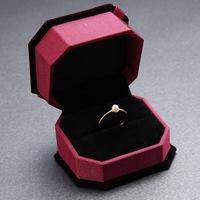 2014 new bague femme wholesale advanced flocking jewelry box Crystal jewelry box couple ring box