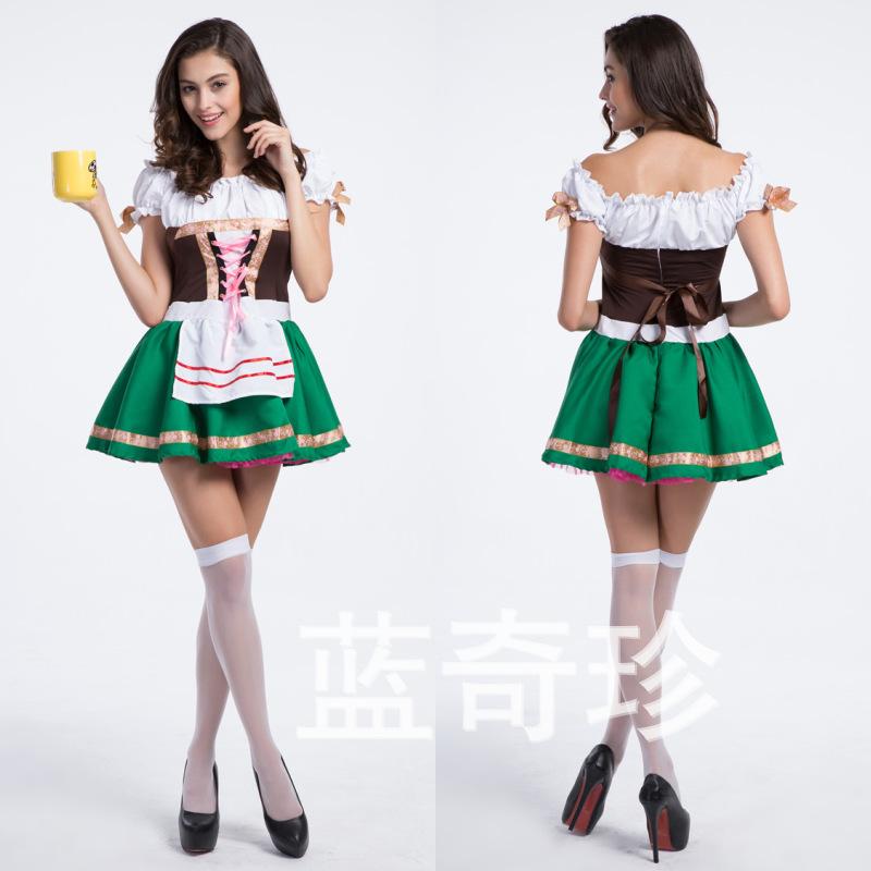2014 chegada nova venda Minnie Mouse trajes adultos comércio exterior Germanygirl Costume Maid Outfit café garçom servindo cerveja servida(China (Mainland))