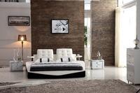 0414-806 modern design soft leather bed