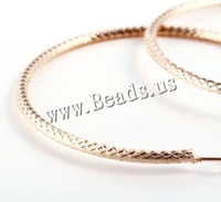 Free shipping!!!Zinc Alloy Hoop Earring,sale, stainless steel post pin, Donut, gold color plated, nickel, lead & cadmium free