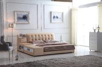 0414-808 modern design soft leather bed