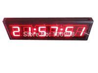 "Godrelish 4"" Red Led Clock 6 digital led wall clock Led countdown timer"