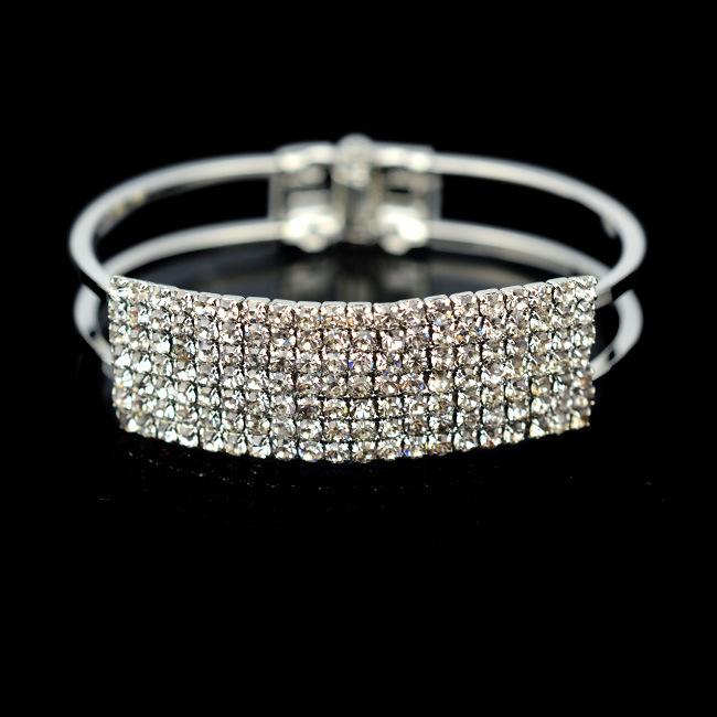 Famous Brand Cristal Bridal Bracelet For Women , Bisuteria Boda Pulseras Mujer,Femme De Marque, Pulseiras Femininas Cristais(China (Mainland))