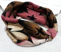 2015 NEW cotton floral printing bow design handmade korea style  fashion headband  elastic headband hairbands hair accessories
