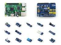 Raspberry Pi Model B Plus Development Board + ARPI600 Expansion Kit Support XBee GPS GSM Motor Control Shield + Various Sensors