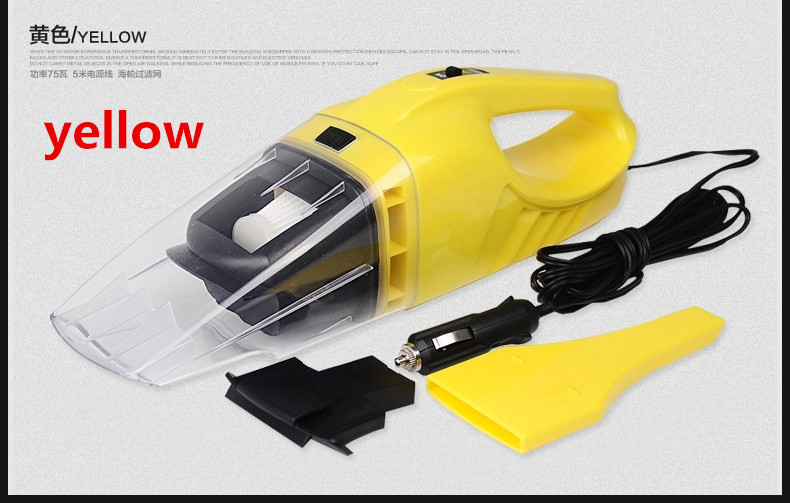Car Wash Vacuum Cleaner,Vacuum Cleaner Car Home Dry Wet,5meters 100w 75w,6 Optional Color,Cheaper Price Mini Cleaner for Car(China (Mainland))