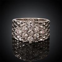 Free shipping! Newest fashion big rings 2015, Ladies luxury large crystal ring USR593