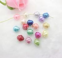 Free shipping-50PCs Random Mixed Pearl Imitation Acrylic Irregular Spacers Beads 18x16mm D2629