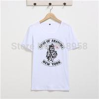 Sons OF Anarchy men t shirt, new 2014 fashion t shirt for men.lim fit casual shirt ,cotton men's faction t-shirt rock xxxl