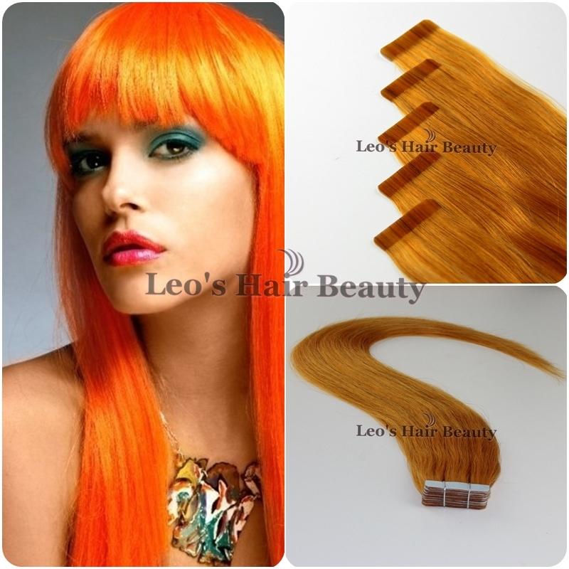 orange human hair extensionsOrange Human Skin