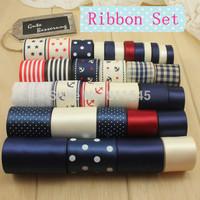 Free Shipping printed grosgrain ribbon and ribbon embroidery DIY handmade craft ribbons set 33 yards Hair accessories set