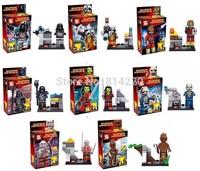 8pcs/lot SY257 Guardians of the Galaxy figures camora/star lord/ Rocket raccoon ronan/Groot Building Block bricks baby toys