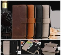 For Galaxy S5 Mini,Fashion Crazy-horse PU Leather Wallet Case for Samsung Galaxy S5 Mini 4.5inch,with Card Holders,10pcs/lot