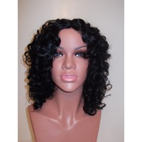 fashion short afro nautral curly human hair wigs  lace front  wig for black woman 100% human hair u part wigs