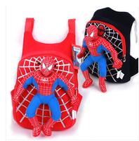 2014 New High Quality 3D Cartoon Spider Man Plush Backpack Kids Unisex Boys School Bag Children Shoulder Bag Free Shipping