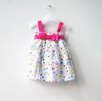 New 2014 Children Summer Wear Cute Girls Dresses Fairy Baby Girls Summer Dress Casual Sleeveless Kids Flower Dresses