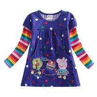 Frozen dress children's wear brand Pepe original pure cotton Peppa Pig pig trade children's clothing child long sleeve t shirt