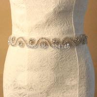 Handmade top level crystal bridal belt magnificent rhinestone belt jewelry fashion wedding dress belt accessories wholesale