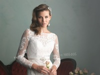 Exquisite Mermaid Wedding Dresses 2015 Robe De Mariee Elegant Long Sleeve Lace Wedding Dresses For Bride Vestido De Novia