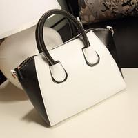 Fashion classic style zipper color block vintage smiley bag portable one shoulder cross-body bags female