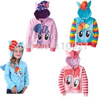 2015 baby little Maria coats & jackets children hoodies topcoat for girls kids cartoon zipper outwear cute lovely clothes 5pcs