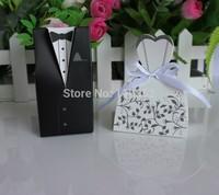 100pcs Bride and 100pcs Groom box Wedding Favor Boxes Gift box Candy box free shipping