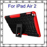 Dual Armor Heavy Duty Hard Cover Case For apple ipad air 2/ ipad 6 TPU+PC Protective Skin with Stand
