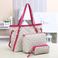 2014 spring and summer women's handbag women's bag messenger bag female handbag cross-body bag picture piece set