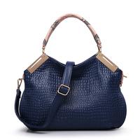 Women's handbag 2014 Crocodile women's for fashion handbag vintage messenger bag