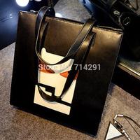 Fashion normic 2014 new arrival brief women's handbag black one shoulder big bags personalized small messenger bag