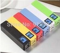 2600mah Perfume Portable Power Bank with Digital LCD Display & Led Light for iPhone iPad Samsung Mobile Phone Free Ship 100PCS