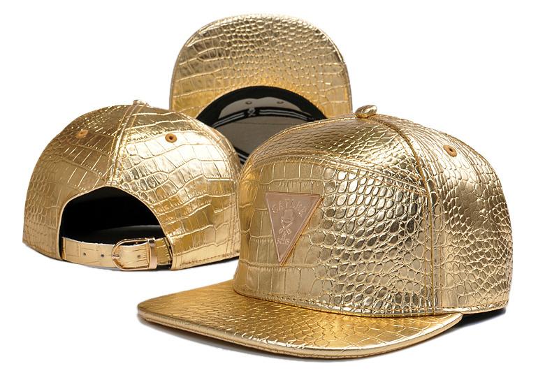 2014 fashion gold leather adjustable baseball snapback hats and caps for men/women sports hip hop sun cap womens mens bone hat(China (Mainland))