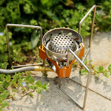 Free Shipping Mini Outdoor Gas Burner Butane Propane Picnic Camping Equipment Backpacking Gas Camping Stove Cooking