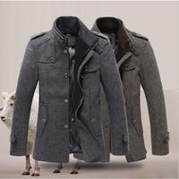 high quality men's winter jacket coat jacket coat warm coat jacket windproof jacket stitching Slim