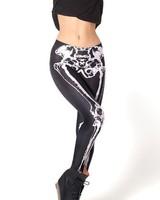 free shipping bone sport leggings fitness skeleton women winter leggings jegging 3d print leggins woman leggings for women